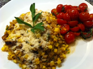 Corn and Farro Risotto