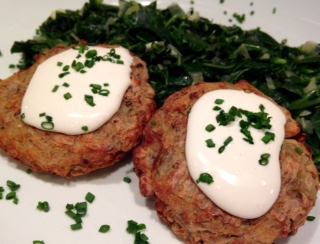 Black Eyed Pea Latkes